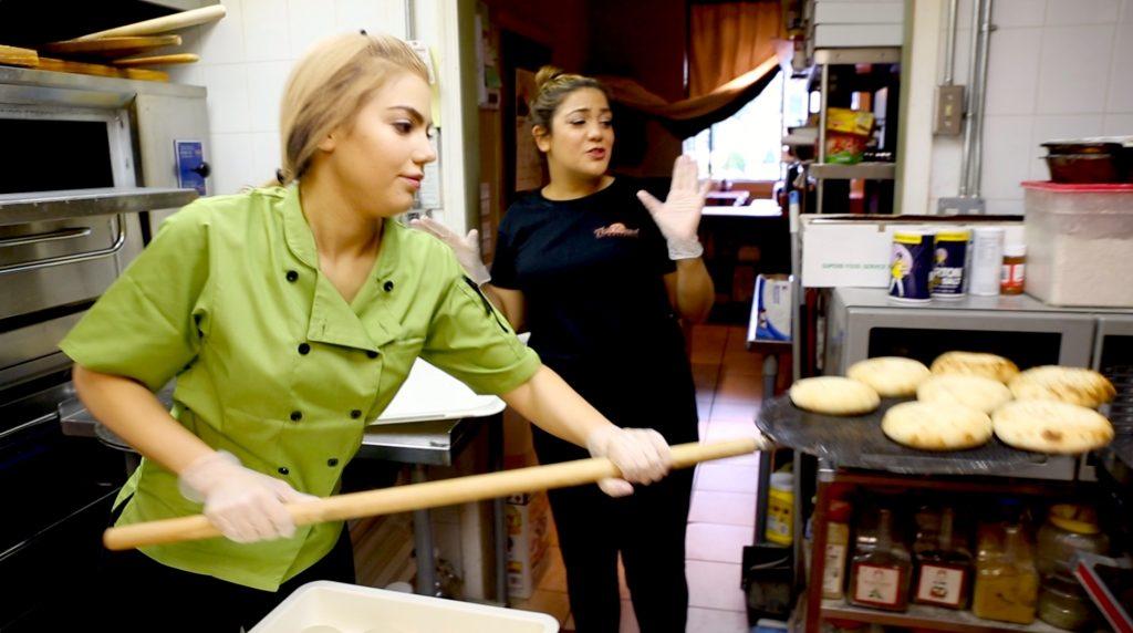 Arzu Esendemir baking Thumb Bread with Gonca Esendemir
